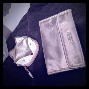 Sephora makeup brush holder & foxy cosmetics bag